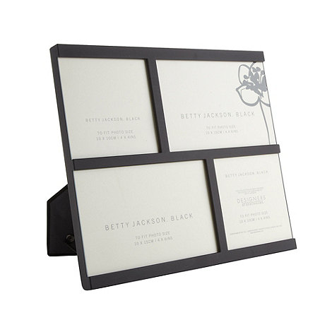 Betty Jackson.Black - Designer black geometric multi photo frame