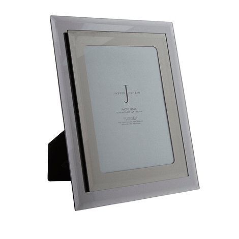 J by Jasper Conran - Designer gunmetal mirror 6 x 8 photo frame
