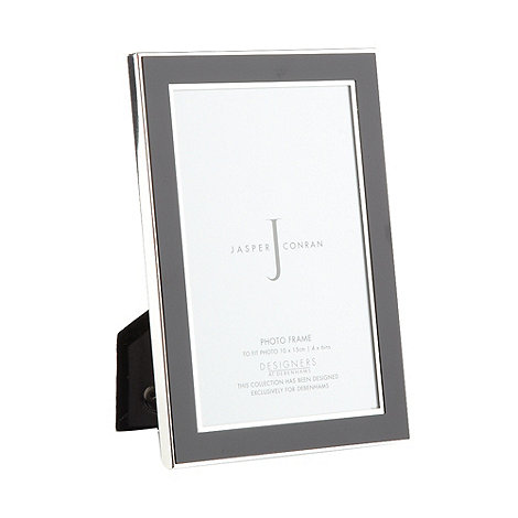 J by Jasper Conran - Designer black enamel photo frame