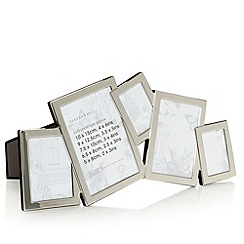 Debenhams - Silver irregular shapes multi frame