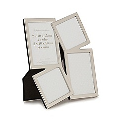 Debenhams - Silver stacked irregular shapes multi photo frame