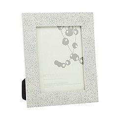 RJR.John Rocha - Designer etched floral 4 x 6 inch photo frame