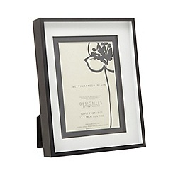 Betty Jackson.Black - Designer black layered 5 x 7 inch photo frame