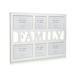 Debenhams - Large wooden 'Family' multiple photo frame