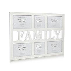 Debenhams - Large wooden 'Family' multiple photo frame