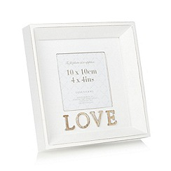 Debenhams - Wooden 'Love' 4 x 4 inch photo frame