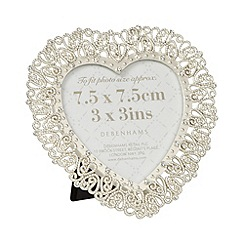 Debenhams - Silver diamante heart photo frame