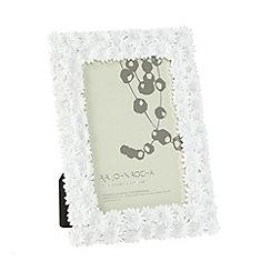 RJR.John Rocha - Designer white floral photo frame