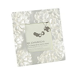 RJR.John Rocha - Designer metal 3D flowers photo frame