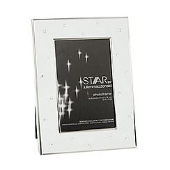 Star by Julien MacDonald - Designer white metal gem 4 x 6 inch photo frame