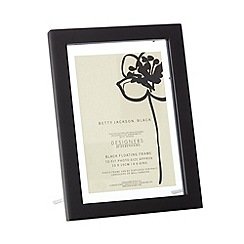 Betty Jackson.Black - Designer black wooden 'Floating' frame