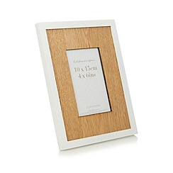 Debenhams - White wooden photo frame