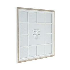 Debenhams - White wooden multi aperture photo frame