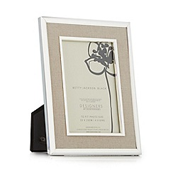 Betty Jackson.Black - Designer taupe fabric photo frames
