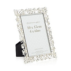 Debenhams - Silver plated pearl 4 x 6 inch photo frame