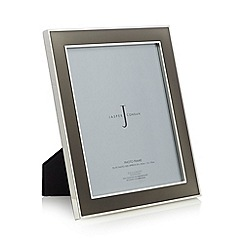 J by Jasper Conran - Designer silver plated enamel photo frame
