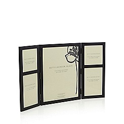 Betty Jackson.Black - Designer matte black hinged photo frame