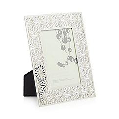 RJR.John Rocha - Designer silver  cutout 4 x 6 inch photo frame
