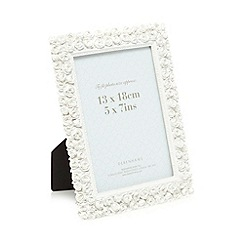 Debenhams - White roses photo frame