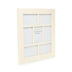 Debenhams - Cream wooden multi aperture photo frame