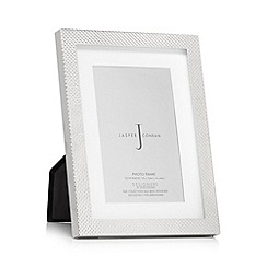 J by Jasper Conran - Silver checked photo frame