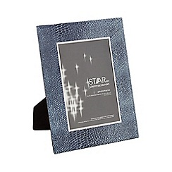 Star by Julien Macdonald - Grey snakeskin print glittery photo frame