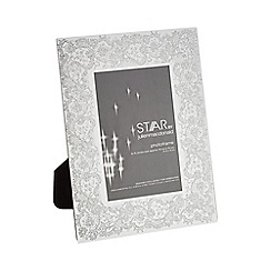 Star by Julien Macdonald - Silver glitter lace-effect photo frame