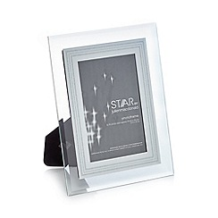Star by Julien Macdonald - Silver glitter border photo frame