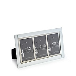 Star by Julien Macdonald - Silver three aperture photo frame