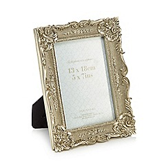 Debenhams - Antique silver fleur de lis photo frame