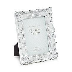 Debenhams - White fleur de lis photo frame