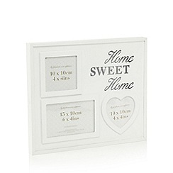 Debenhams - Wooden 'Home sweet home' aperture photo frame