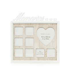 Debenhams - Cream washed wood 'Memories' picture frame