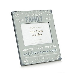 Debenhams - Grey family slogan photo frame