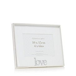 Debenhams - White 'Love' print photo frame
