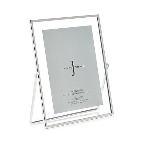 RJR.John Rocha - Silver textured metal photo frame