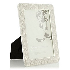 RJR.John Rocha - Silver textured lace photo frame