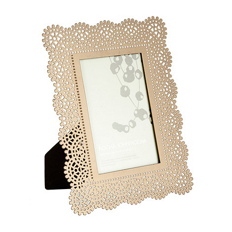 RJR.John Rocha - Metal cutout crochet 10 x 15cm photo frame