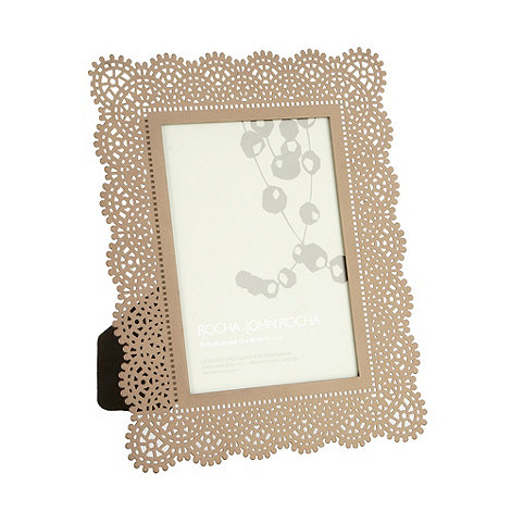 RJR.John Rocha - Metal cutout crochet 13 x 18cm photo frame