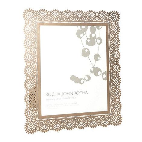 RJR.John Rocha - Bronze large crochet patterned laser cut metal photo frame