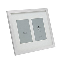 J by Jasper Conran - Silver plated two aperture photo frame