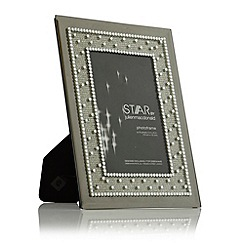Star by Julien Macdonald - Silver diamante mirrored photo frame