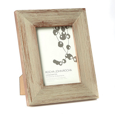 RJR.John Rocha - Designer light brown textured wood photo frame