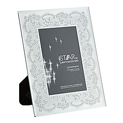 Star by Julien MacDonald - Designer glass lace border photo frame