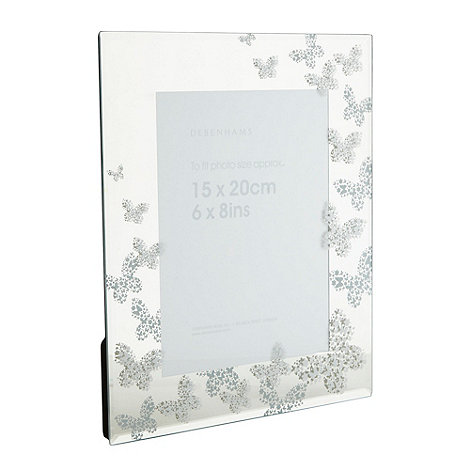 Debenhams - Glass butterfly photo frame