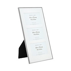 Home Collection - Silver tripped three aperture photo frame