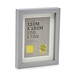 Home Collection Basics - Grey boxed photo frame