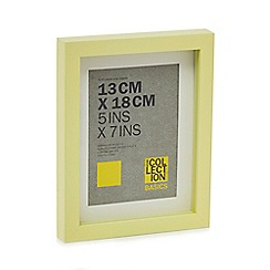 Home Collection Basics - Yellow boxed photo frame