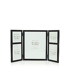 Home Collection - Black five aperture folding photo frame