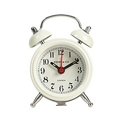 Jones - Cream mini bell alarm clock
